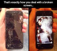 Broken Phone Meme - meme how to deal with a broken screen