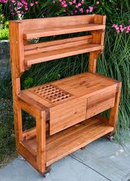 potting tables for sale custom eli s redwood potting bench made in u s a duchess outlet