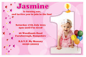 Create Own Invitation Card Invitation Card For 1st Birthday Vertabox Com