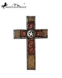 montana west wall cross spiritual western home decor rustic texas