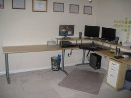 Corner Desk For Two Attractive Ikea Corner Desk Design Comes With Curve Shape Wooden
