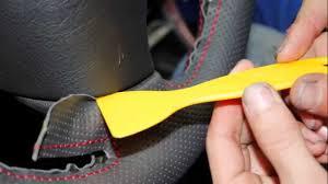 Steering Wheel Upholstery Peugeot 307 Genuine Leather Steering Wheel Cover Install Youtube