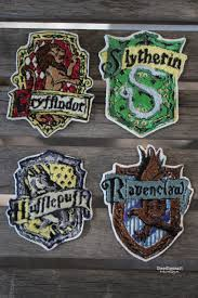 Harry Potter House by Doodlecraft Geek Week Harry Potter Hogwarts House Patches