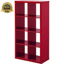 Bookcase Storage Units High Gloss Bookcase Wood 8 Cube Bookshelf Storage Unit Home