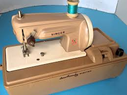 vintage singer sewhandy electric sewing machine youtube