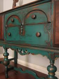 Chalk Paint Colors For Furniture by Blue Painted Buffet Makeover Buffet Street And Paint Furniture
