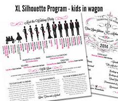 wedding program card stock qty 50 xl silhouette fan wedding program white shimmer square
