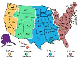 map of time zones usa and mexico map of time zones usa map of usa states