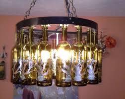 Wine Bottle Chandeliers Wine Bottle Chandelier Etsy