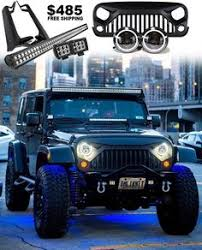 led light bar bundle rock lights multi color rgb bluetooth jeep light bar jeep