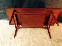 table basse scandinave en teck édition arrebo mobler 1960