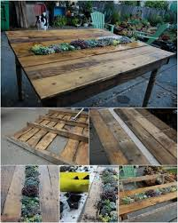 Outdoor Pallet Table 35 Ingenious Outdoor Pallet Projects For All Types Of Diyers Diy