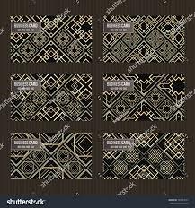 business card set golden foil decorative stock vector 564543577