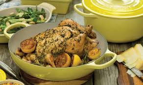 thanksgiving chicken dishes roast chicken with lemon and herbs le creuset