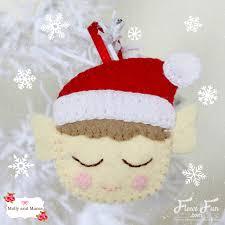 make a christmas felt elf molly and mama