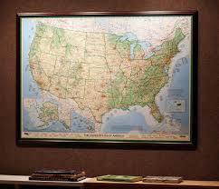 Framed World Map by Dave Imus U0027 Amazing Usa Map 50