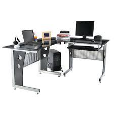 Black Glass Computer Desks For Home Black Glass Top Desk U2013 Archana Me