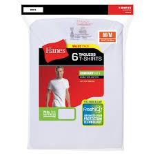 hanes men u0027s freshiq comfortsoft white crew neck t shirt 6 pack