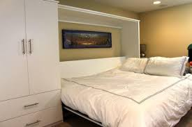 Murphy Bed Guest Room How To Transform A Basement Into A Guest Room