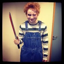 Psycho Halloween Costume Ed Sheeran Terrifying Doll Psycho Killer Chucky