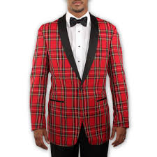 tartan vs plaid red tartan plaid tuxedo with black lapel holiday christmas
