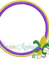 mardi gras picture frame mardi gras monogram frame applique creative appliques