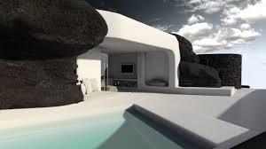 architecture designer underground villa in santorini architectural design3dworks
