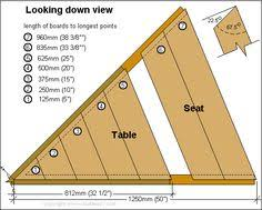 Foldable Picnic Table Plans folding picnic table plans side elevation diy ideas