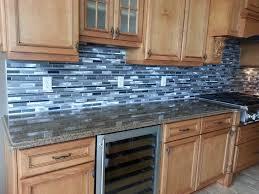 blue glass tile kitchen backsplash big blue 3x12 03 surprising glass tile backsplash 2 furniture