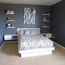 Ikea Double Beds Teenage Boys Bedroom White Furniture Platform Bed Floating