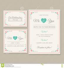 Free Editable Wedding Invitation Cards Wedding Invitation Card Illustration Set Stock Illustration
