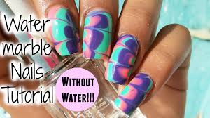 nail art water marble nail art step by tutorial easy without
