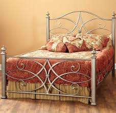 katrina iron bed in german silver by largo furniture humble