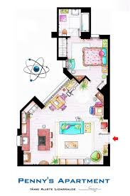 artsy architectural apartment floor plans from tv shows 9 pics