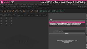 getting started with instalod for autodesk maya instalod