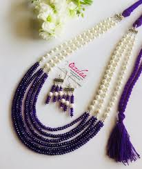 amethyst necklace images Designer pearl amethyst necklace set purple necklace set online jpeg