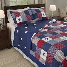 Blue And White Comforter Red White And Blue Bedding Amazon Com