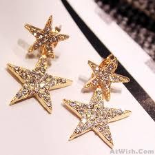 cool ear studs fashion diamond bordered women s ear drop