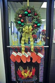 Christmas Tree Door Decoration Contest Fireplace Door Decoration Image Collections Doors Design Modern