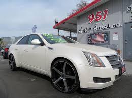 white cadillac cts black rims 2009 cadillac cts 3 6l v6 4dr sedan w 1sa in san jacinto ca 951
