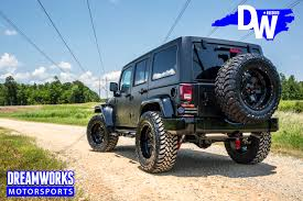 jeep wrangler matte black gerald wallace u0027s jeep wrangler unlimited u2014 dreamworks motorsports