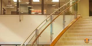 ornamental glass stair railings city viva blade