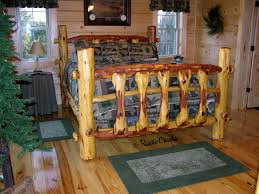 Rustic Log Bedroom Furniture Cedar Bed Frame Plans How To Build Log Beds And Tools To Do So