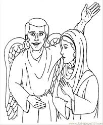 angel visits mary coloring page preschool coloring pages for all