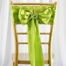satin chair sashes satin chair sash 6x106 green 5pcs efavormart