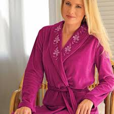 robe de chambre en velours robe de chambre velours aibrou peignoir femme velours avec