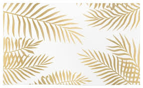 Leaf Area Rug Society6 Gold Palm Leaves Rug Tropical Area Rugs By Society6