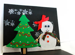 kids christmas card craft christmas lights decoration