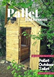 outdoor bathroom ideas pallet outdoor toilet pallet bathroom
