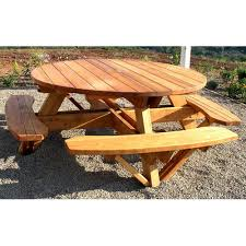 Woodworking Plans And Project Ideas Octagon Picnic Table Plans by Round Picnic Table Plans Redwood Outdoor Round Picnic Table